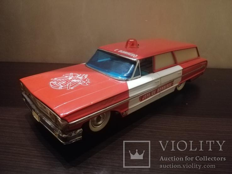 Жестяная игрушка Ford Galaxy 43 см. На батарейках. 60-е годы. Рабочая, фото №4