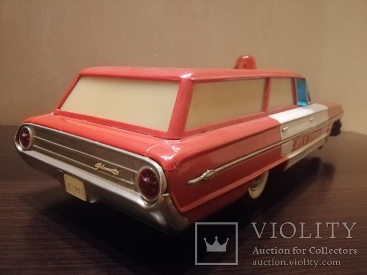 Жестяная игрушка Ford Galaxy 43 см. На батарейках. 60-е годы. Рабочая, фото №6