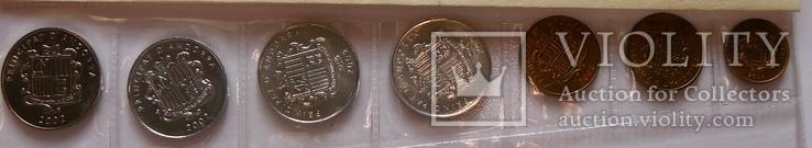 Набор монет Андорры, 7 монет, (2002 г.) UNC, фото №3
