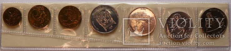 Набор монет Андорры, 7 монет, (2002 г.) UNC, фото №2