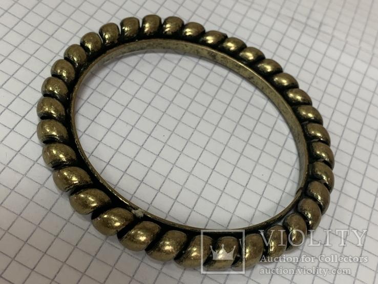 Винтажный золотистый браслет  29 гр, фото №2