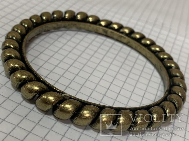 Винтажный золотистый браслет  29 гр, фото №3