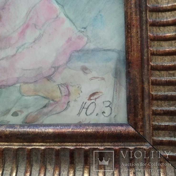 """""""Две дамы"""" см. техн. Ю.М.Злочевский (1922-1988), фото №4"""