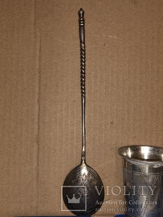 Лот серебро 84 проба, фото №3
