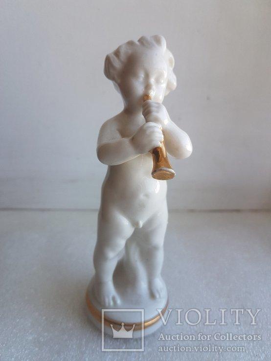 Статуэтка Германия Младенец играет на духовом инструменте, фото №2