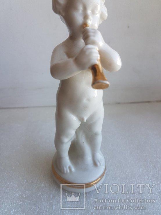 Статуэтка Германия Младенец играет на духовом инструменте, фото №4