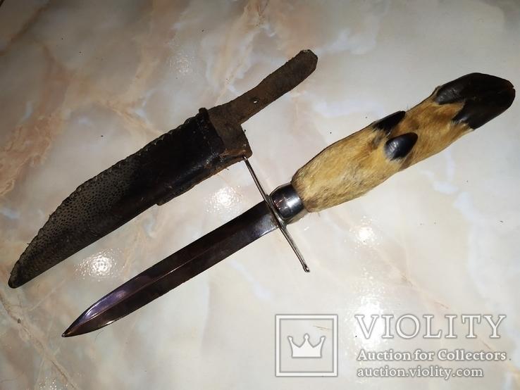 Нож козья ножка с чехлом, фото №2