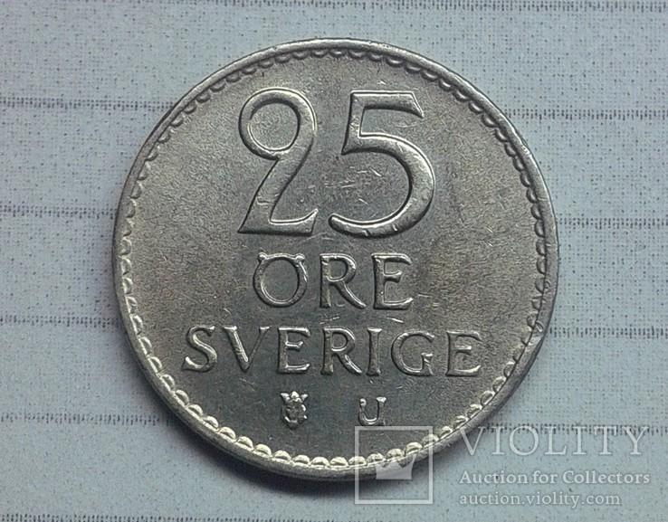 Швеция 25 эре 1963, фото №3