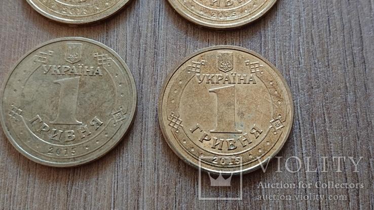 1 гривня 2015 року. 70 років перемоги у ВВВ 6 шт, фото №6