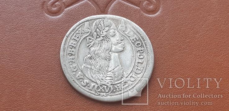 15  крейцеров 1676 г.  Венгрия, фото №3