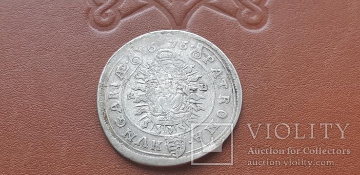 15  крейцеров 1676 г.  Венгрия, фото №4