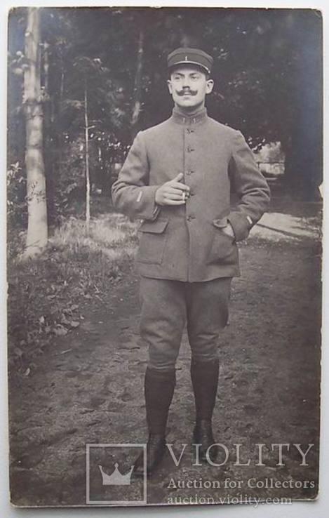Фотокарточка, Бельгия 1917, солдат, фото №2