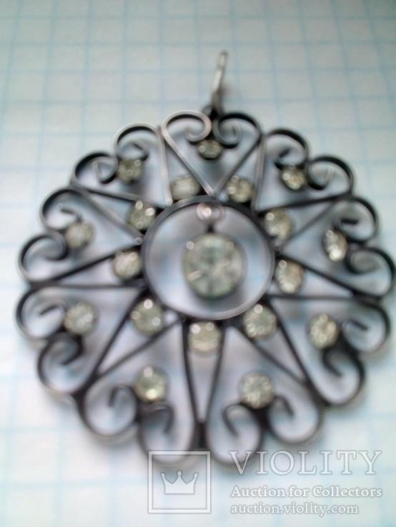 Кулон СССР 875 серебро, фото №3