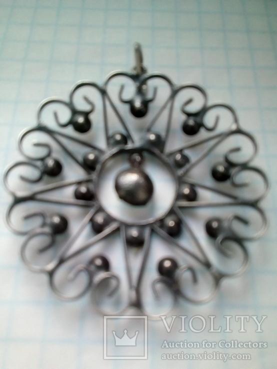 Кулон СССР 875 серебро, фото №4