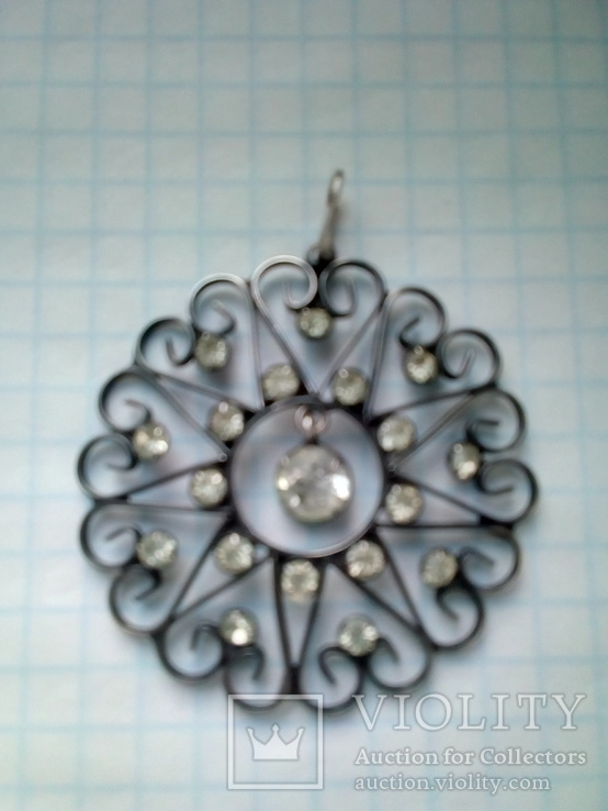 Кулон СССР 875 серебро, фото №2
