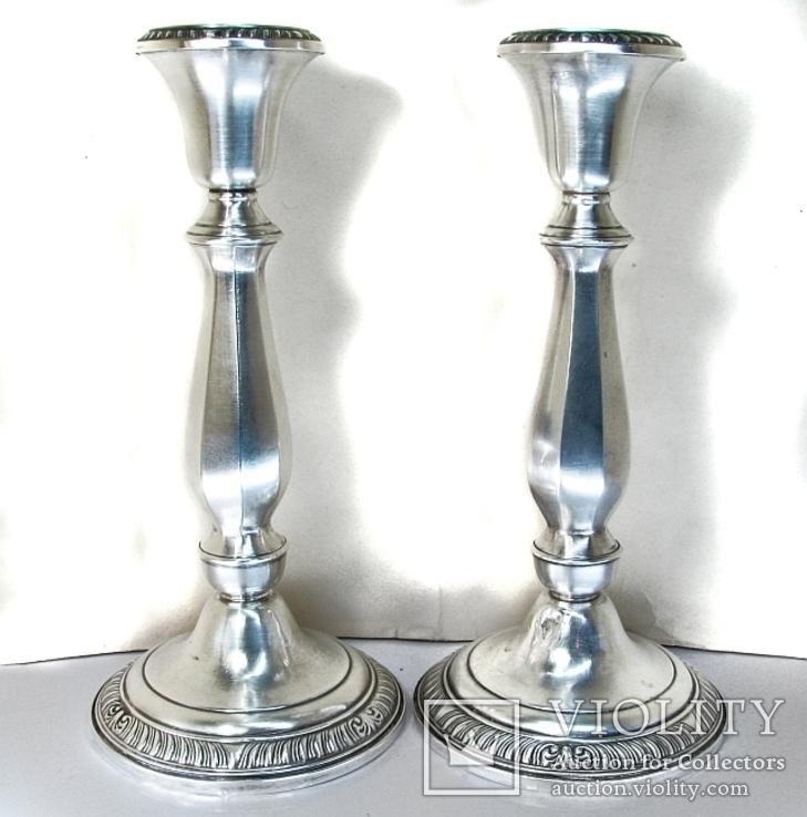 Парные серебряные подсвечники США Конец ХIХ века Серебро 925 пробы, фото №2