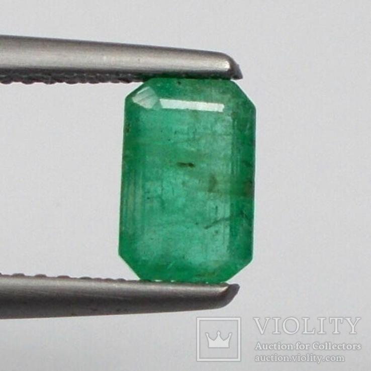 Изумруд Замбия, отличный цвет, прозрачный 1.05 карата, фото №2