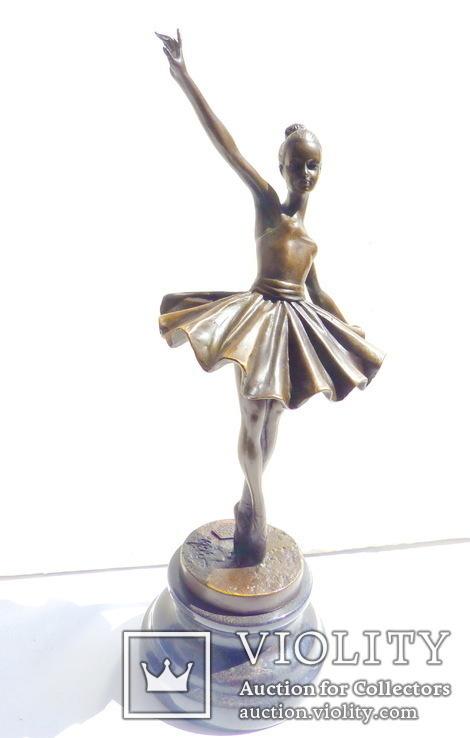 Статуэтка скульптура бронза балерина - 31,5 см, фото №4