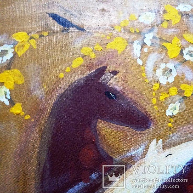 Картина Материнство.Весна.. Художник Ellen ORRO. холст/акрил. 55х45, 2009 г., фото №12