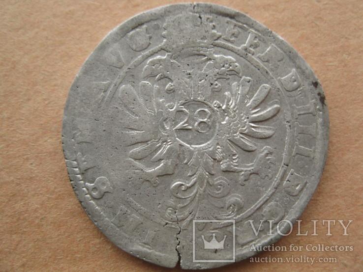 Флорин (28 штюберів) м.Йевер імп .Фердинанд ІІІ