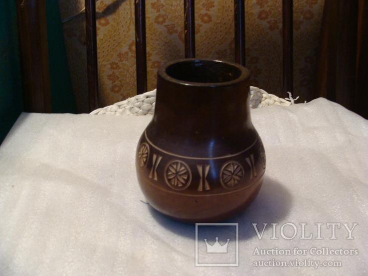 Різьблена дерев'яна ваза, фото №2