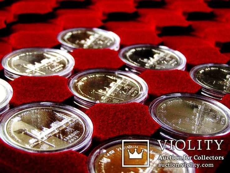 Планшет на 35 монет в капсуле 31,1 mm на 2 грн НБУ + прозрачный футляр MM-Schulz Польша, фото №4