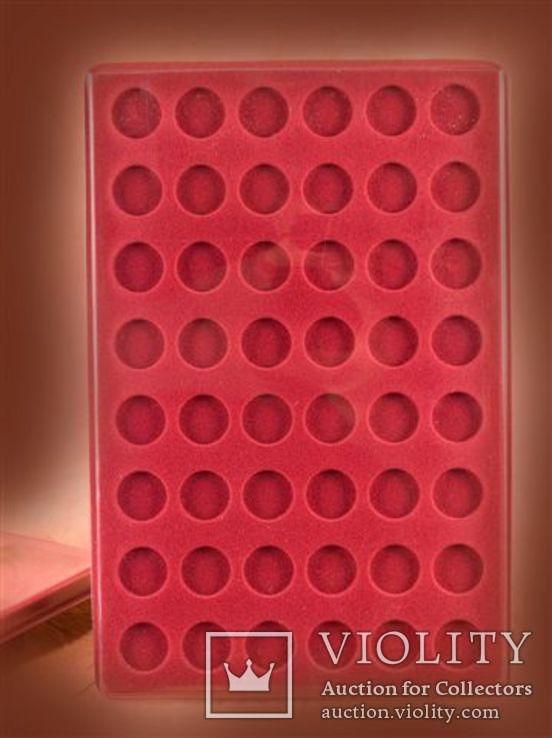 Планшет на 48 монет диаметром 27mm + прозрачный футляр MM-Schulz Польша, фото №3