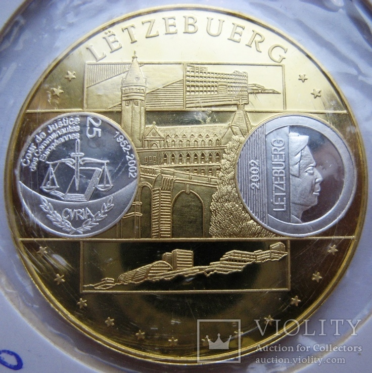 """Люксембург, 10 серебряных евро """"Прощание с франком"""" 2002 г., фото №2"""