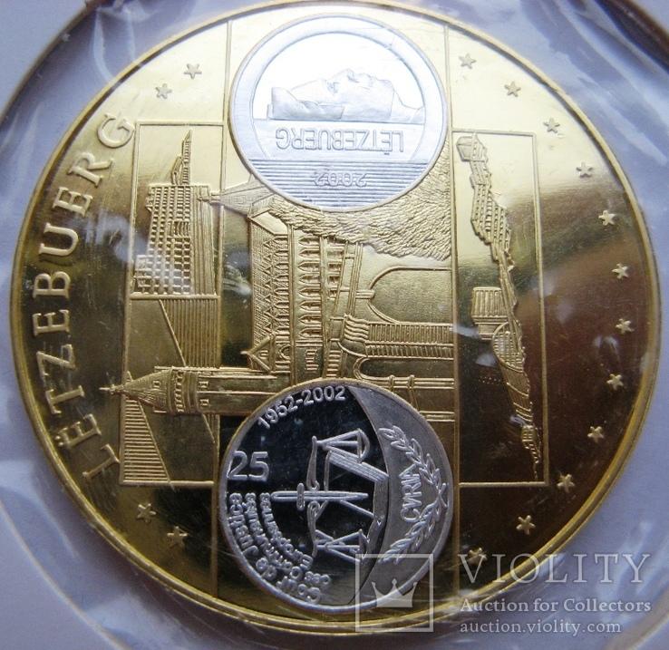"""Люксембург, 10 серебряных евро """"Прощание с франком"""" 2002 г., фото №4"""