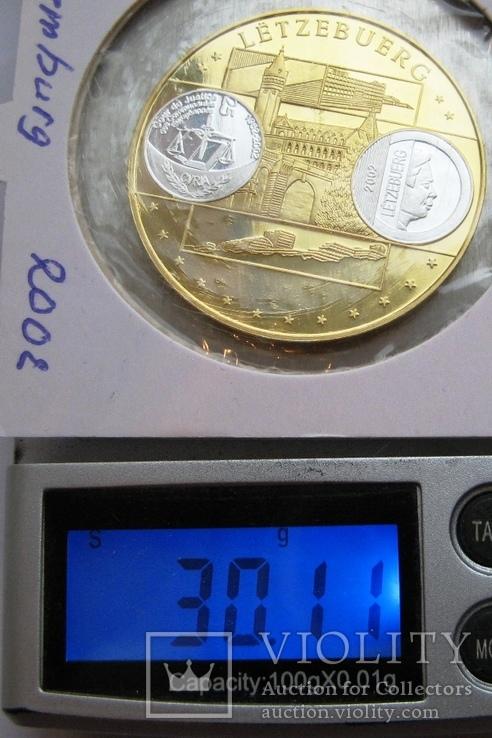"""Люксембург, 10 серебряных евро """"Прощание с франком"""" 2002 г., фото №6"""