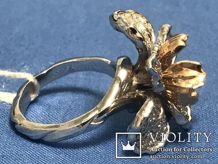 Золотое кольцо с бриллиантами, фото №5