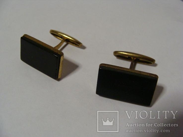 Запонки з каменем та зажим для краватки, фото №2