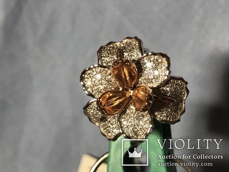 Золотое кольцо с бриллиантами, фото №8
