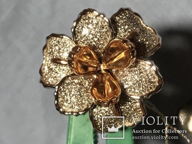 Золотое кольцо с бриллиантами, фото №2