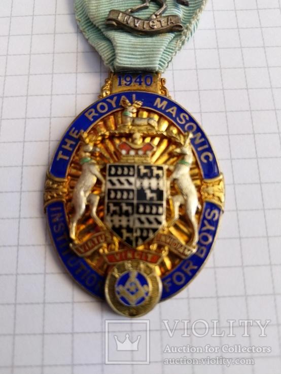 Масонский знак STEWARD. Серебро. 1940 год., фото №3
