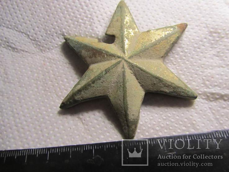 Накладка (звезда) в позолоте, фото №3