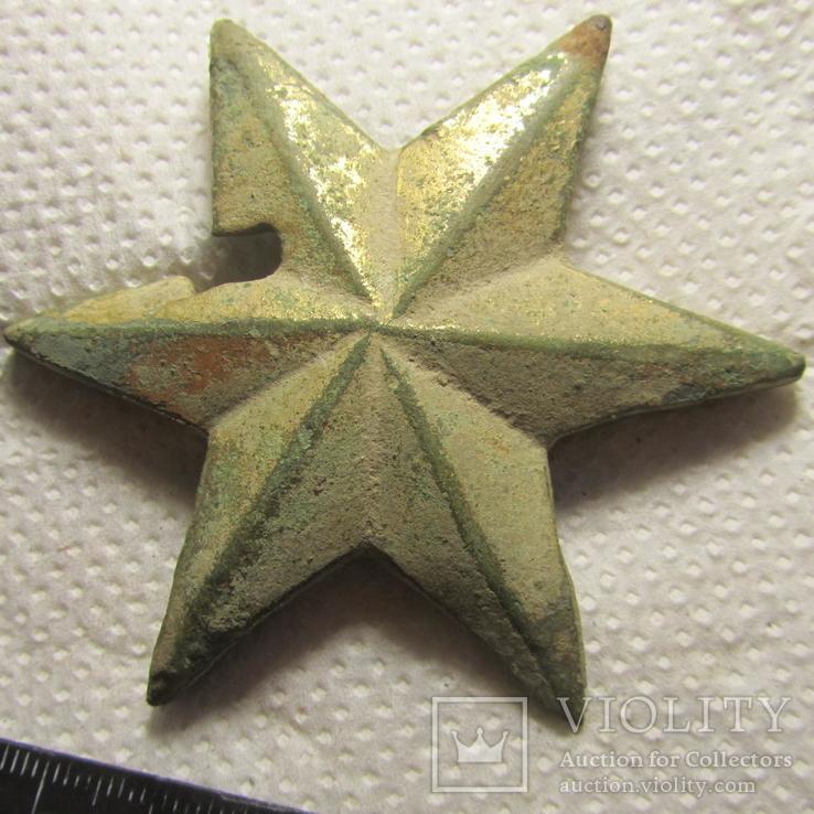 Накладка (звезда) в позолоте, фото №2
