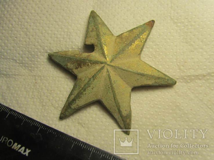 Накладка (звезда) в позолоте, фото №4