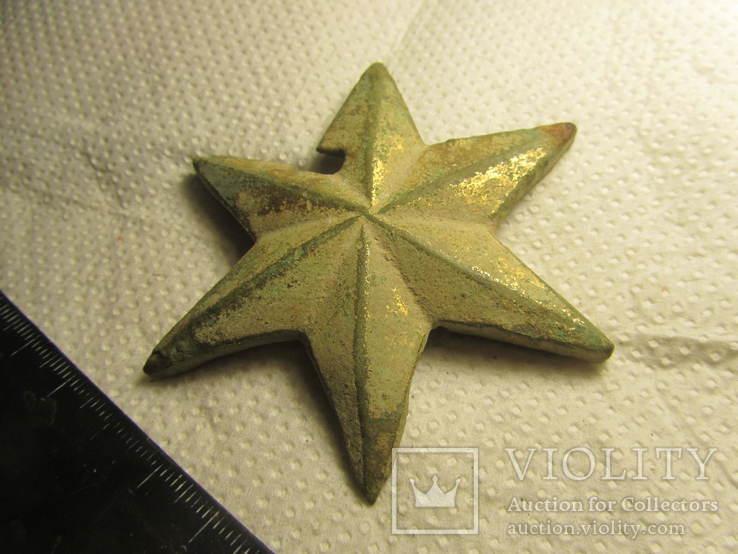 Накладка (звезда) в позолоте, фото №5