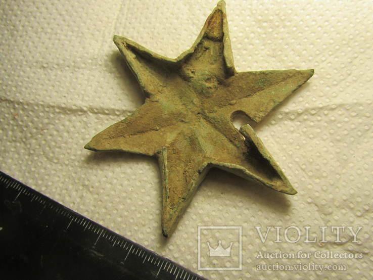 Накладка (звезда) в позолоте, фото №6