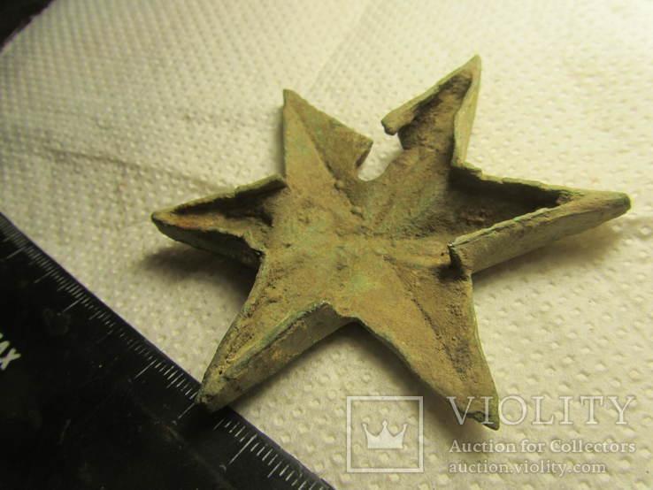 Накладка (звезда) в позолоте, фото №7