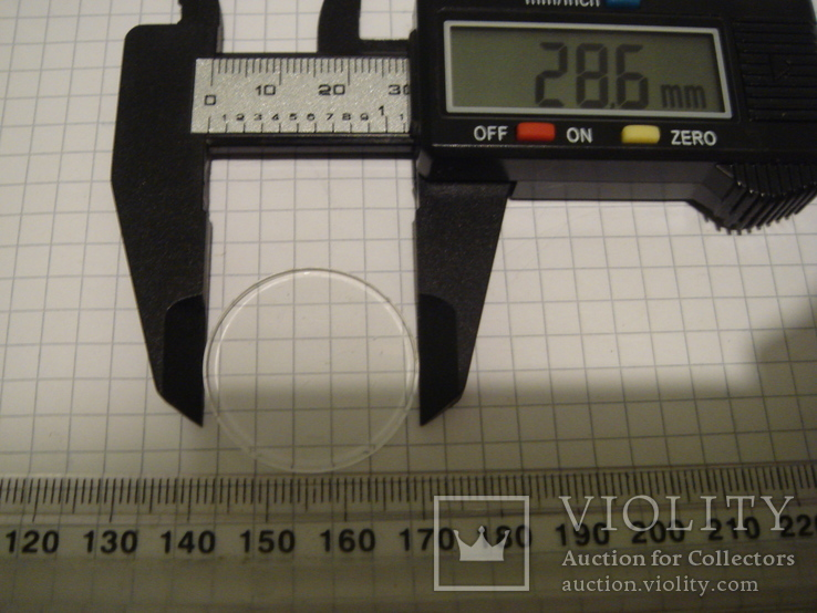 Стекло к часам 28.6 мм.толстое 2.2 мм., фото №5