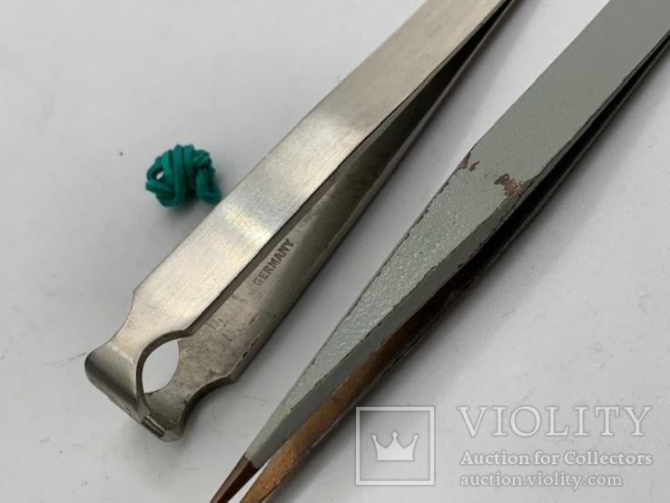 Пинцеты сталь-латунь 2., фото №4