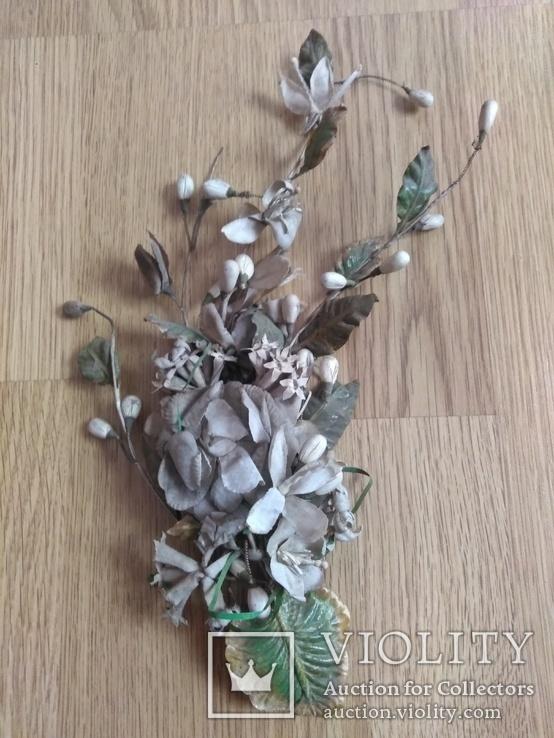 Старинная свадебная пара  цветов., фото №4