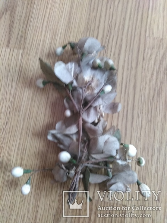 Старинная свадебная пара  цветов., фото №5