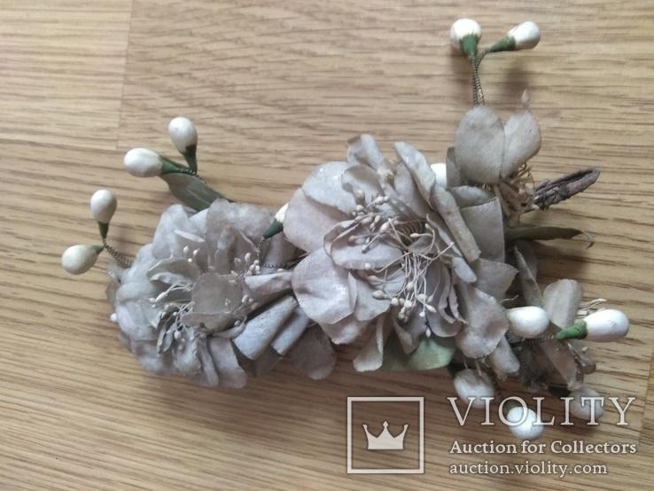 Старинная свадебная пара  цветов., фото №6