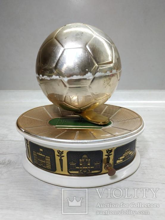 Музыкальная Шкатулка Стадион Футбольный мяч СССР, фото №13