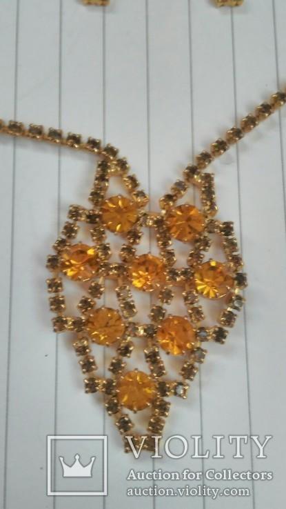 Комплект:Колье,браслет,клипсы.Чехословакия., фото №4
