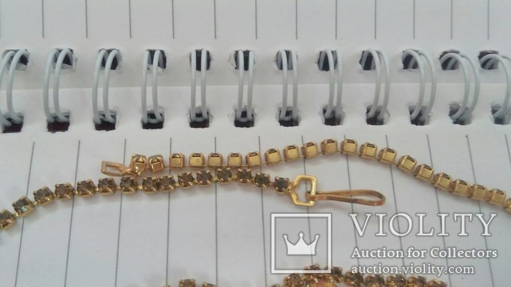 Комплект:Колье,браслет,клипсы.Чехословакия., фото №7