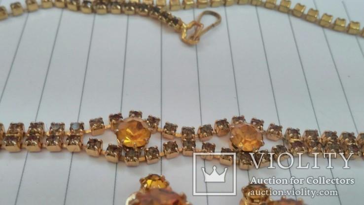 Комплект:Колье,браслет,клипсы.Чехословакия., фото №9